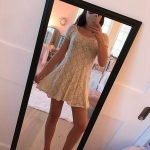 Cream lace dress!!